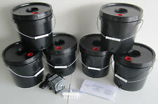6 bucket 2 Gallon Deep Water Culture (DWC) Grow Bucket Hydroponic System Kit