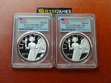 2016 W & S AMERICAN LIBERTY PROOF SILVER MEDAL PCGS PR70 DCAM FLAG FIRST STRIKE