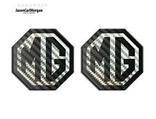 MG TF LE500 70mm Badge Insert Set Front Grill Rear Boot  MG Logo Black Carbon