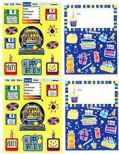 4 Sheets Happy BIRTHDAY Computer Cake Candles Stickers!