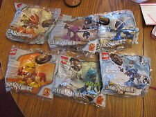 Lego Bionicle COMPLETE SET of 6 McDonald's 2001 Happy Meal SEALED NEW