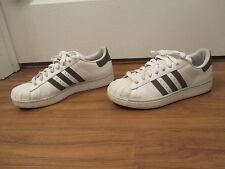 Used Worn Size 10 Adidas Superstar 2 Shoes White & Gray