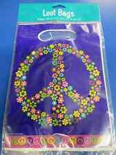Groovy Girl 60's Peace Hippie Theme Birthday Party Favor Treat Sacks Loot Bags
