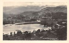WINDEMERE CUMBRIA UK WATERHEAD & LANGDALE PIKES & STEAMERSHIP ABRAHAM POSTCARD
