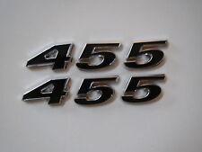 OLDSMOBILE 455 ENGINE ID FENDER HOOD SCOOP QUARTER PANEL TRUNK EMBLEMS - BLACK