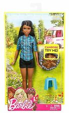 New 2017 Barbie Girls Sister Camping Set Play Set Playset AA African Campfire
