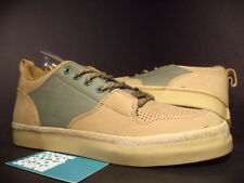 The HUNDREDS ADAM BOMB RILEY LOW OLIVE GREEN BROWN CANVAS NUBUCK F13P210005 8.5