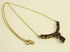GRANAT COLLIER HALSKETTE 585er GOLD 14kt. GARNET NECKLACE GRENAT OR COLLANA ORO
