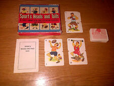 Vintage Retro Rare Sports Heads and Tails Mix and Match Card Game Complete VGC