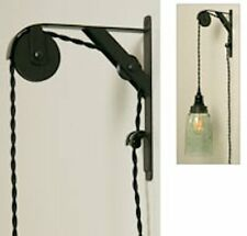 Primitive Double Sheave Bracket Pulley Lifting pendant light lamp Wall mount