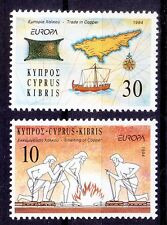 Europa, Discoveries, Metal Copper, Map, Ships, Cyprus 1994 MNH 2v