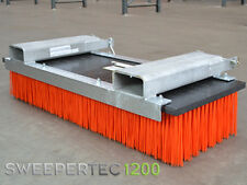 Forklift / Tractor mounted yard sweeper attachment,16 row brush, 1200mm long.