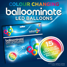 15 Pack de Color Cambiante LED Luz balloominate Globos-todas las ocasiones