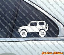 2X Lifted offroad truck stickers - for Suzuki Jimny 3rd gen (JB33 / JB43)