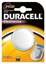 2 x DURACELL cr2430 Batteria A Bottone Al Litio 3v dl2430 k2430l ecr2430