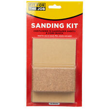 Sanding Kit with Cork and 10 Sanding Sheets - Fit for the Job