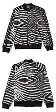 SIZE 12 - MEDIUM - ADIDAS ORIGINALS SUPERGIRL ZEBRA 3 STRIPES TREFOIL TRACKTOP