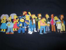 Mens SIMPSONS Weathered Blue Short Sleeve Cotton T Shirt Shirts XL