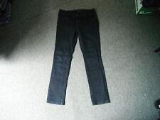 "Miss Selfridge Skinny Jeans Size 12 Leg 29"" Black Faded Ladies Jeans"