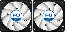 2 x Arctic F8 80mm 8cm PC Gaming Case Fan Silent, High Performance 6 Year Warr
