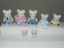 Epoch Calico Critters Sylvanian Families White Mouse Mice Family Figure Lot
