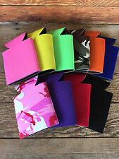 LOT of 50 Blank Beer Soda Can Holder Foam Coozie Coolies 10 Assorted COLORS