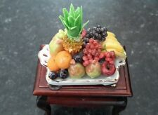 Dolls house Reutter Porcelain Fruit Tray attached to a table