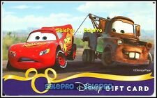 DISNEY 2011 CARS ANIMATION LIGHTNING McQUEEN & MATER COLLECTIBLE GIFT CARD