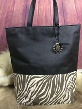 Roberto Cavalli Zebra Print Large Purse Shopping Tote Bag