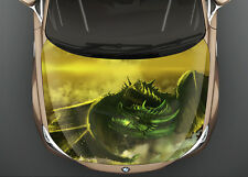 Green Dragon Car Hood Wrap Full Color Vinyl Sticker Decal Fit Any Car