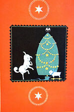Elizabeth Cadie 1925 TOY REAL LAMB and CHRISTMAS TREE Illustration Art Matted