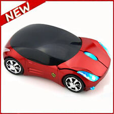 NEW 2.4GHz Cordless 3D 1600DPI Ferrari Car Shape Usb Optical Wireless Mouse UK