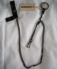 BNWT DIESEL WALLET CHAIN LEATHER METAL BELT LOOP RRP EUR89