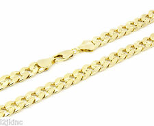 Mens 14k Gold Plated 10mm 24 inches Cuban Curb Chain Necklace Concave