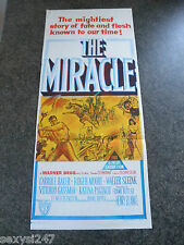 THE MIRACLE ORIGINAL CINEMA DAYBILL MOVIE POSTER 1959 Roger Moore
