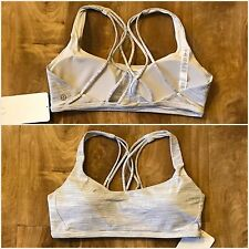 NWT Lululemon Free To Be Zen Bra Sz 8 Wee Are From Space Alpine White Battleship
