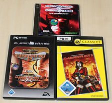 3 PC SPIELE SAMMLUNG COMMAND & CONQUER - ALARMSTUFE ROT 1 2 3 YURIS RACHE