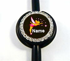 ID STETHOSCOPE NAME TAG BLING,TINKERBELL, NURSE,RN,MEDICAL,ER,MA,VET TECH,VET