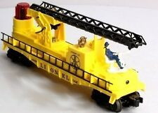 Lionel 16660 Operating Yellow Fire Ladder Extends up/down, swivels; FlasingLight