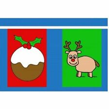 Christmas Multi Large Bunting - 24 Flags 12m - Christmas Shop House Sign IE