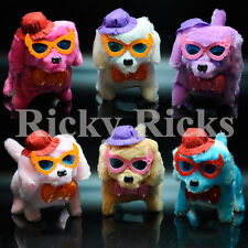 12 Walking Dogs Light Up Toy Barking Puppies LED Eyes Furry Plush Electronic