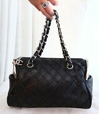 VERIFIED Authentic Chanel Quilted Leather Ultimate Soft Sombrero Bowler Bag