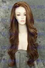 L. Brown Blonde Mix Long Heat OK Lace Front Wavy Synthetic Wig KIM in FS8/27/613
