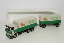 TEKNO SCANIA 142H 142 H TRUCK WITH TRAILER TRANSFLORA HOLLAND N MINT CONDITION