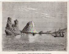 HIENGHENE HYEHEN ROCHERS POULE COUVEUSE CALEDONIE NEW CALEDONIA IMAGE 1868 PRINT