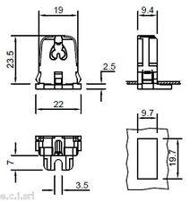 9279 Portalampade per lampade fluorescenti  - G5 T5 ( coppia )