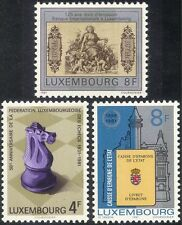 Luxembourg 1981 Chess/Games/Sports/Money/Commerce/Bank/Banking 3v set (lu10130)