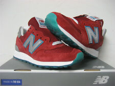 New Balance 574 Made in USA Red White Teal Sz 8 US574CPA