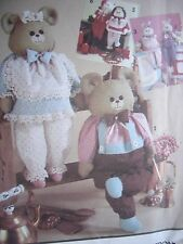 Sewing Pattern New Simplicity 7548 Dressed Animal Doll Wood Block Body Santa Hol