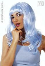 Long Blue Wig With Fringe Katy Perry California Girl Fancy Dress